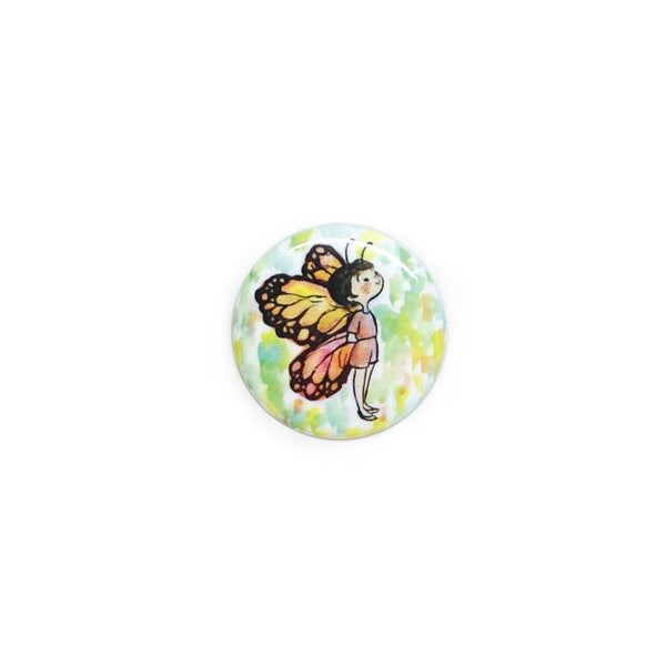 Butterfly Girl Button/Magnet