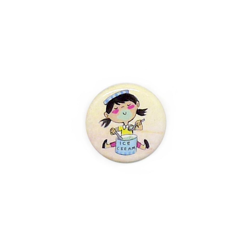 Ice Cream Drummer Button/Magnet