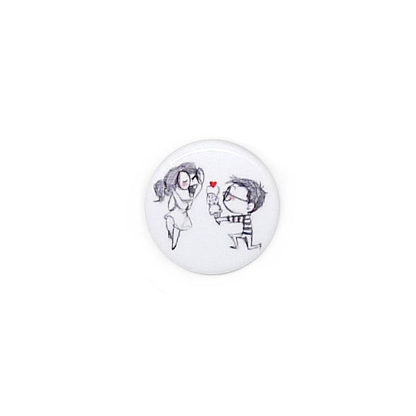 Ice Cream Proposal Button/Magnet