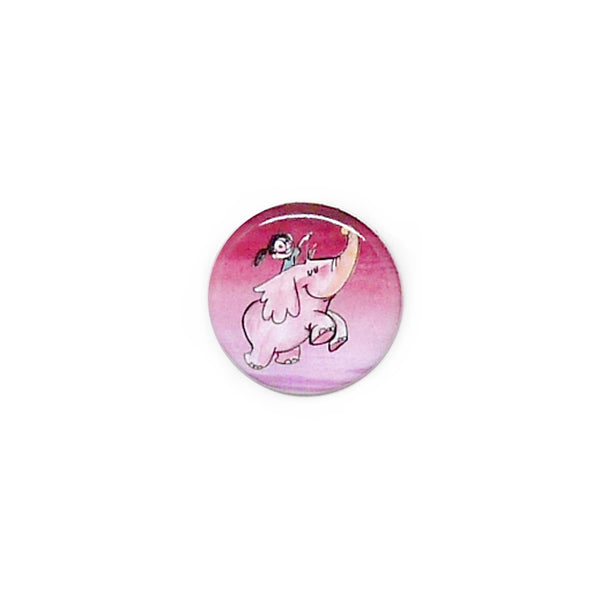 Flying Elephant Button/Magnet