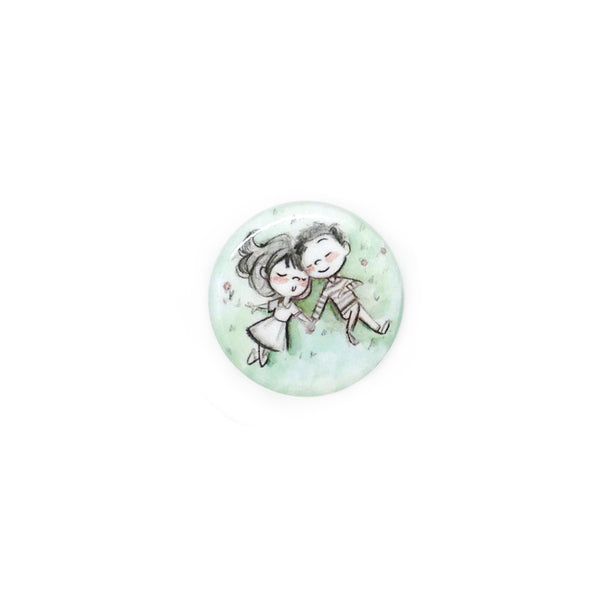 Sleepy Picnic Button/Magnet