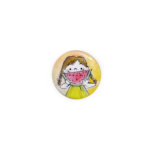Watermelon Smile Button/Magnet