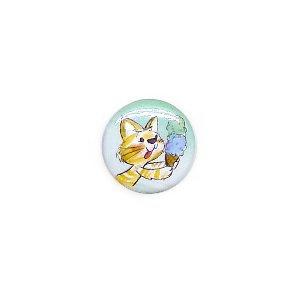 Ice Cream Kitty Button/Magnet