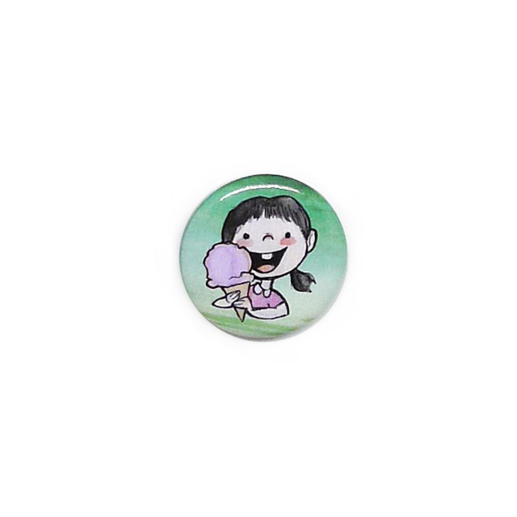 Ice Cream Girl Button/Magnet