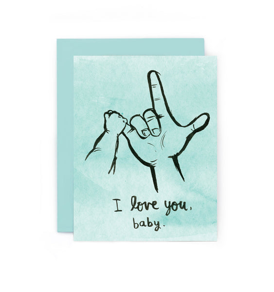 I Love You Baby Greeting Card