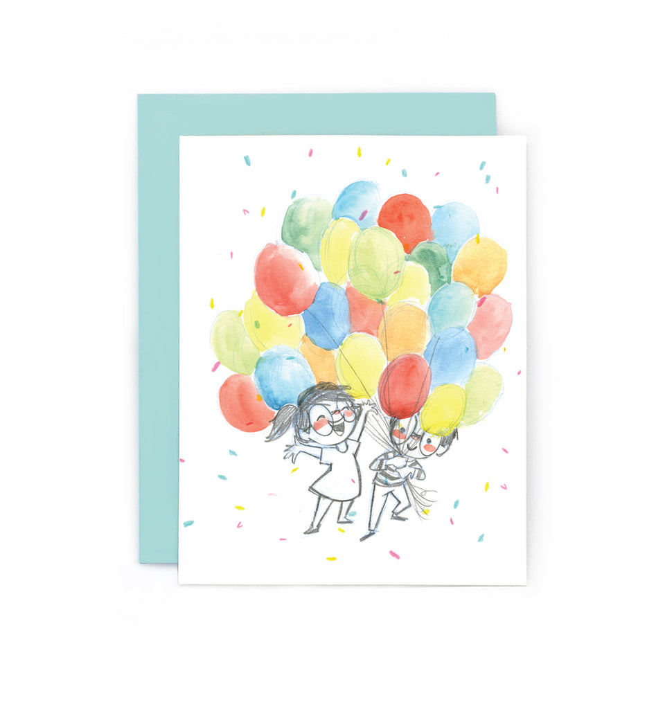 Clink Happy Balloons Greeting Card