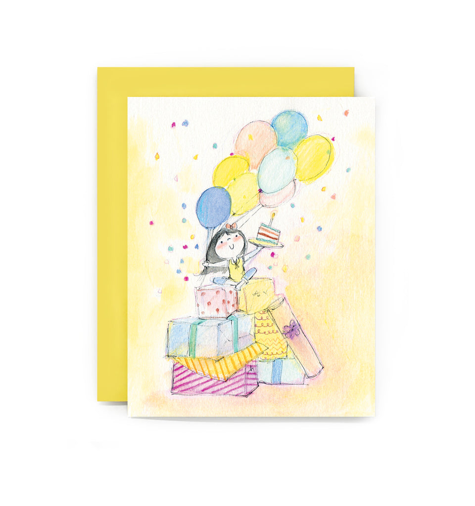Confetti Birthday Girl Greeting Card