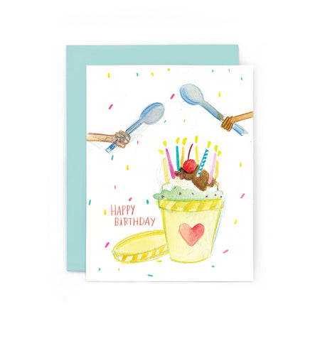 Birthday Ice Cream Pint Card
