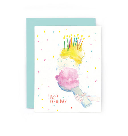 Birthday Ice Cream Scoop Card