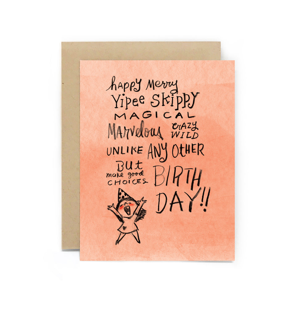 Yipee Skippy Birthday Girl Greeting Card