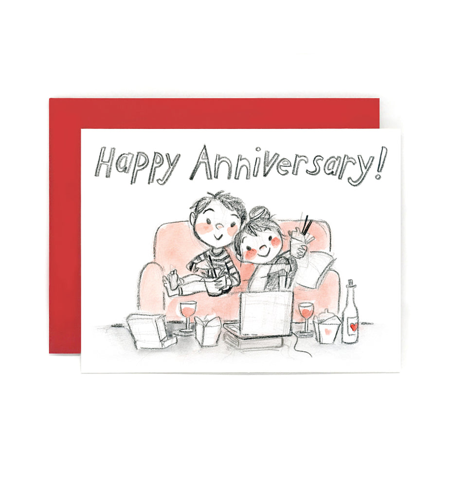 Happy Couch Anniversary Greeting Card Le Petit Elefant