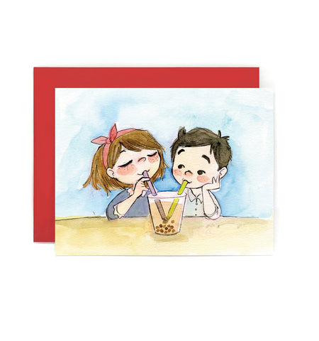 Boba Lovers Greeting Card