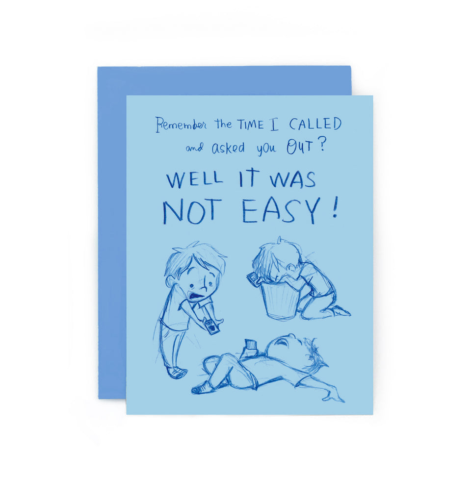 Crush Confessions : Phone Call Greeting Card