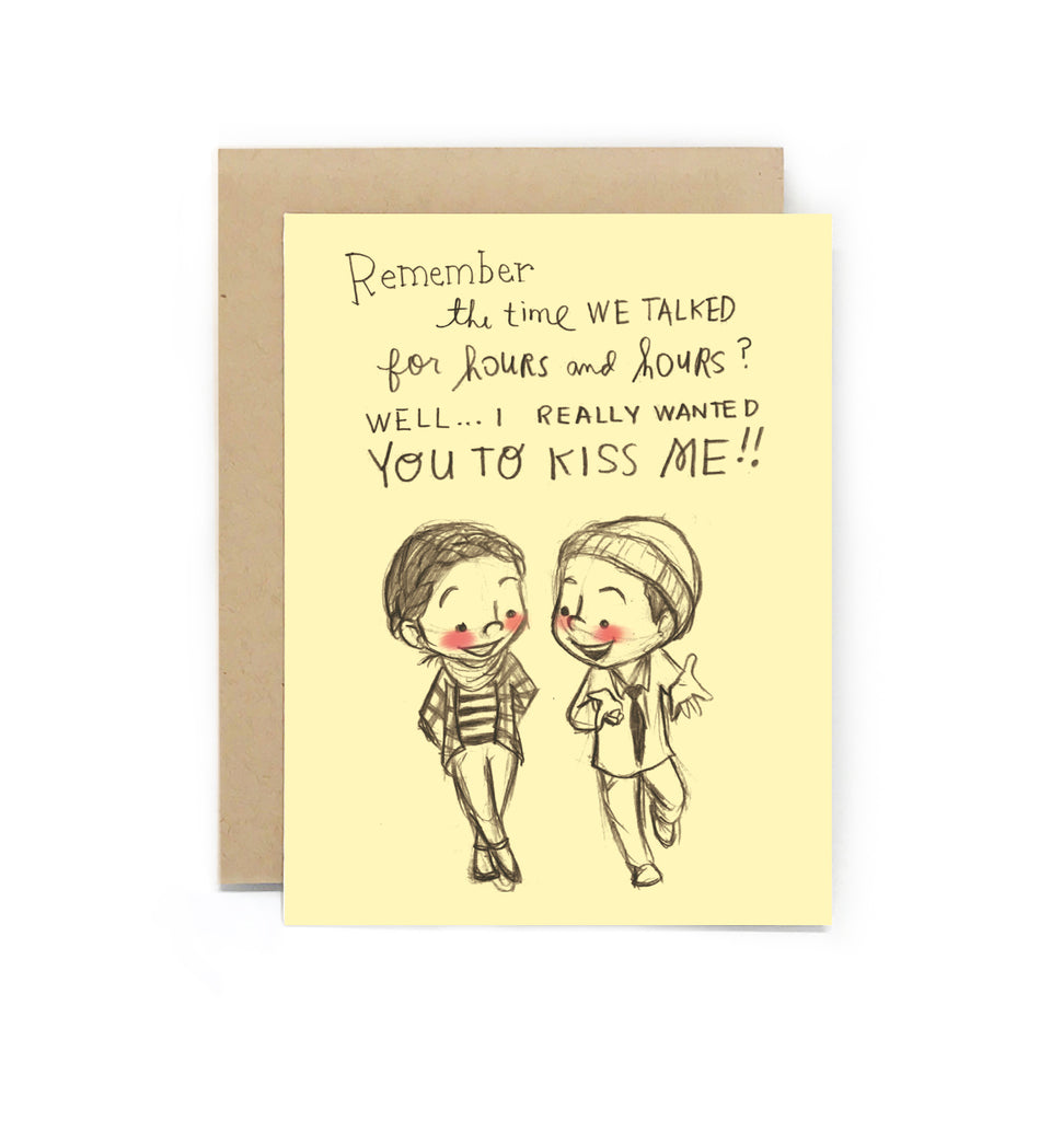 Crush Confessions: Kiss Me Greeting Card