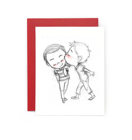 How About a Kiss Greeting Card