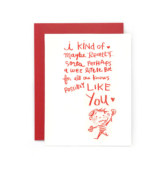 I kind of like you Boy Greeting Card