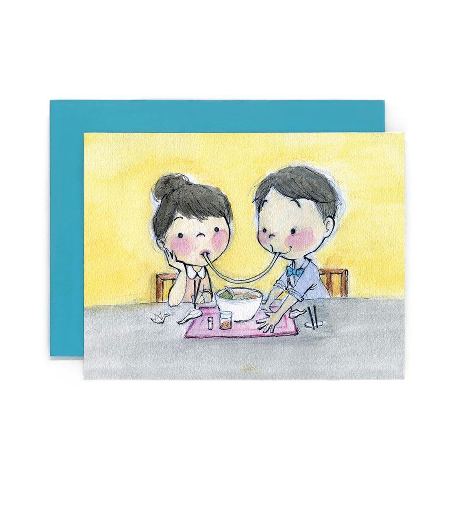 Ramen Kiss Greeting Card