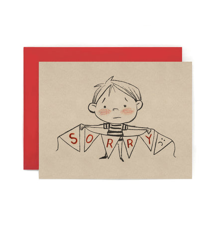 I'm Sorry Bunting Card