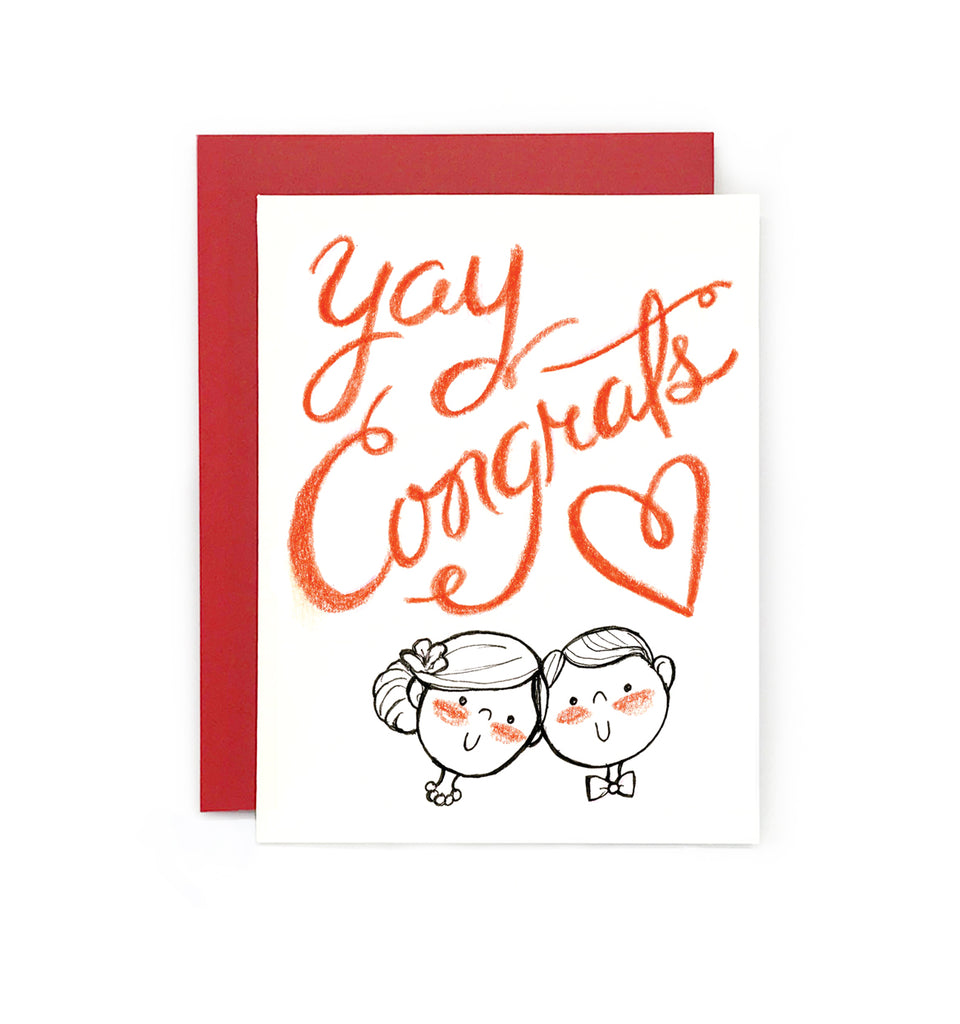 Yay Congrats Wedding Card Le Petit Elefant