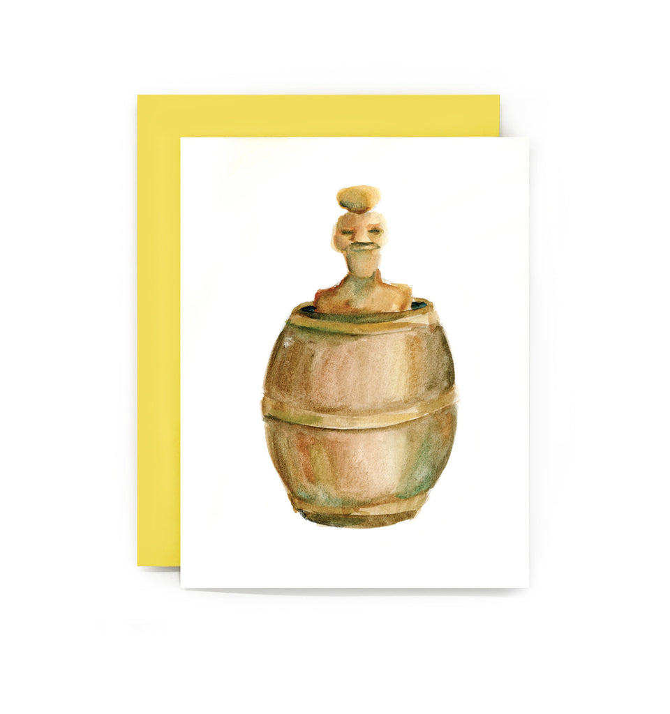 Barrel Man Greeting Card
