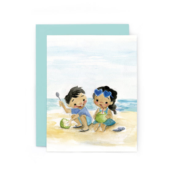Buko Juice Greeting Card