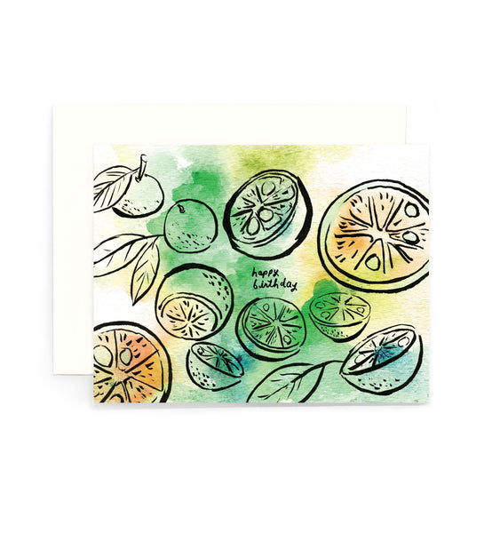 Calamansi Birthday Greeting Card