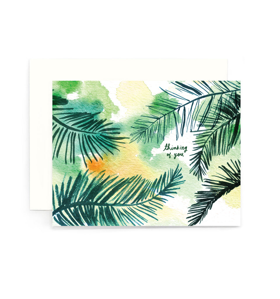 Thinking of You Coconut Leaves Greeting Card