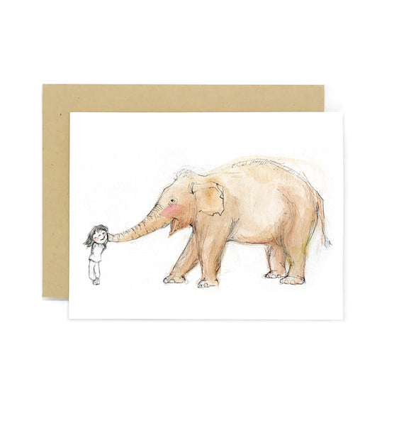 Elephant Kiss Greeting Card