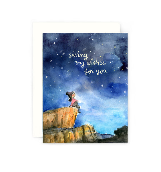 Saving My Wishes For You Greeting Card