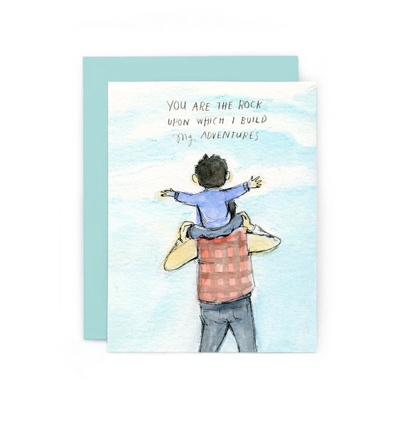 You Are the Rock Father's Day Greeting Card