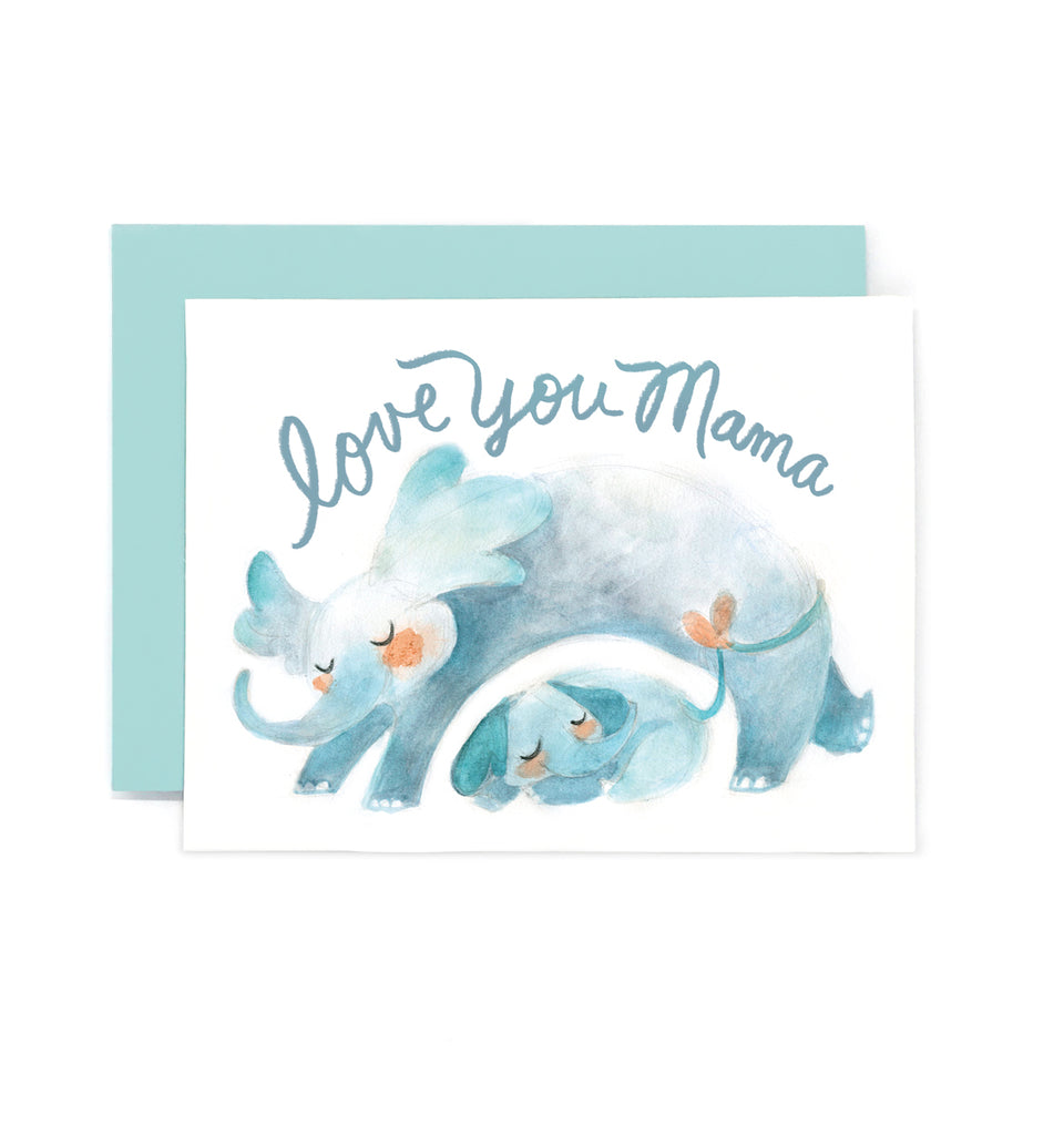 Love You Mama Elephant Card