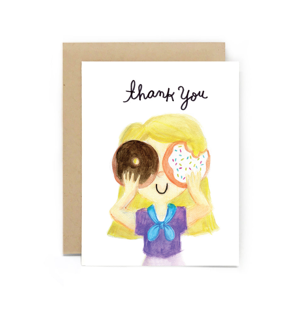 Sweet Tooth Donut Thank You Card
