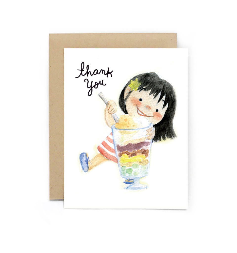 Sweet Tooth Halo Halo Thank You Card