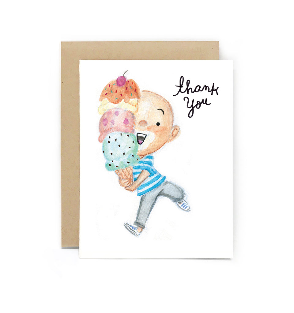 Sweet Tooth Ice Cream Thank You Card