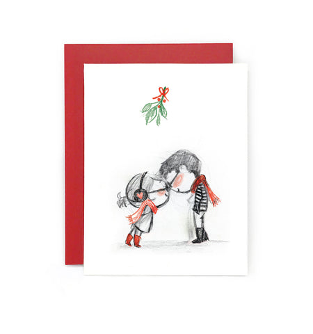 Mistletoe Clink Holiday Card