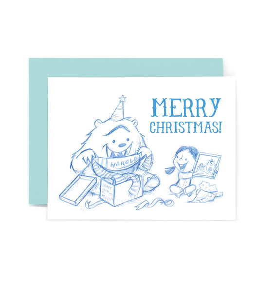 Merry Christmas Rawr Card