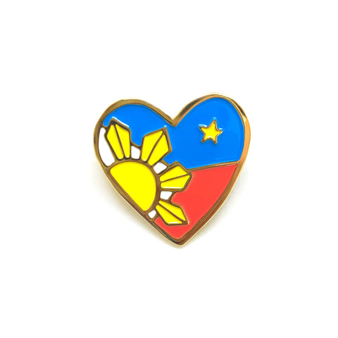 Filipino Heart Enamel Pin