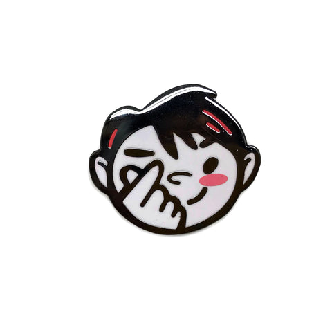 Heart Fingers Kpop Boy Enamel Pin