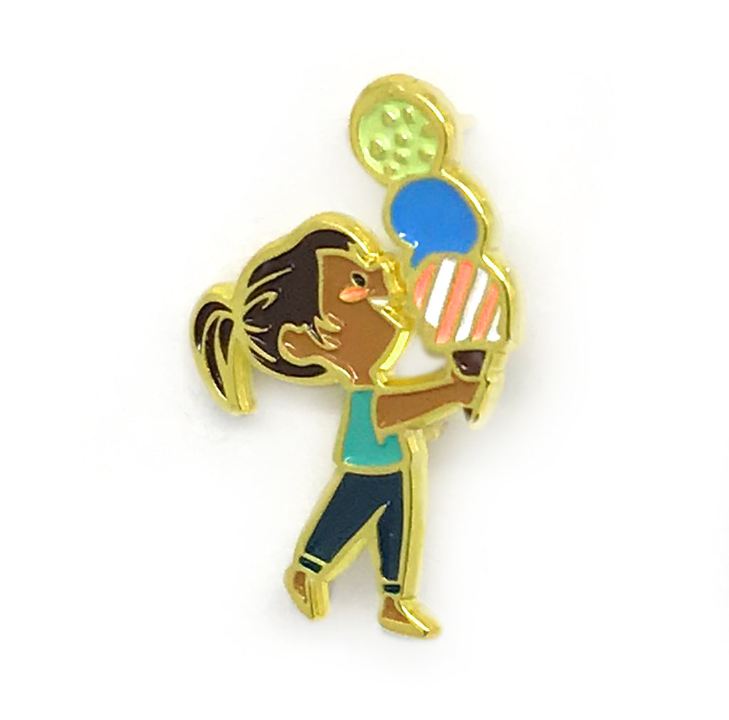 Ice Cream Girl Enamel Pin