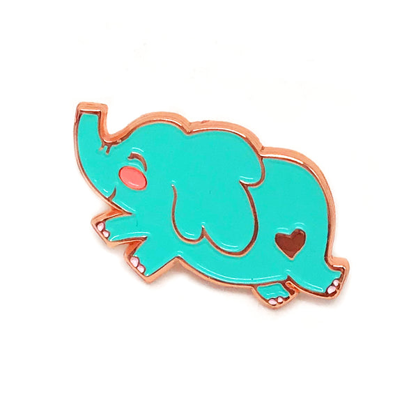 Jumping Elephant Enamel Pin