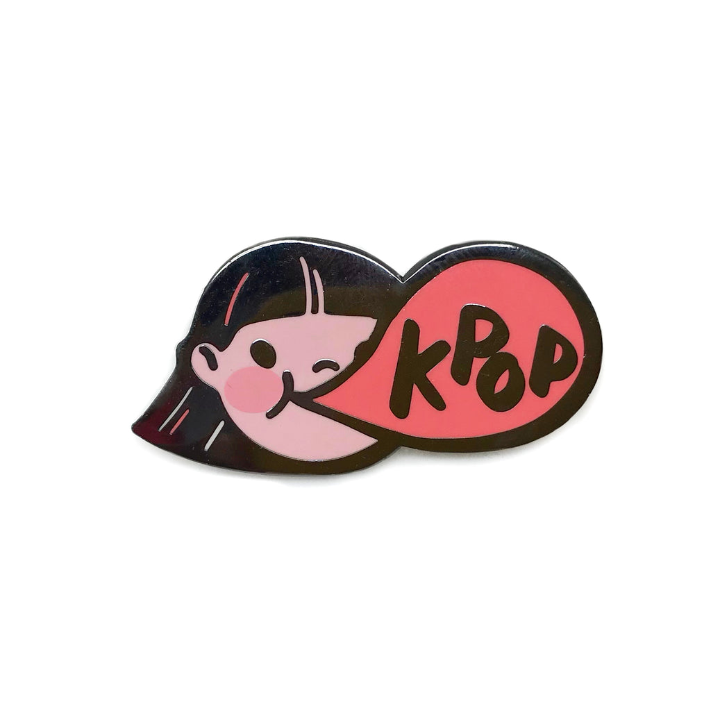Kpop Bubble Gum Girl Enamel Pin