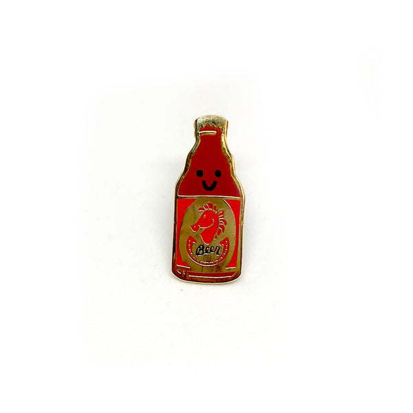 Red Horse Beer Enamel Pin