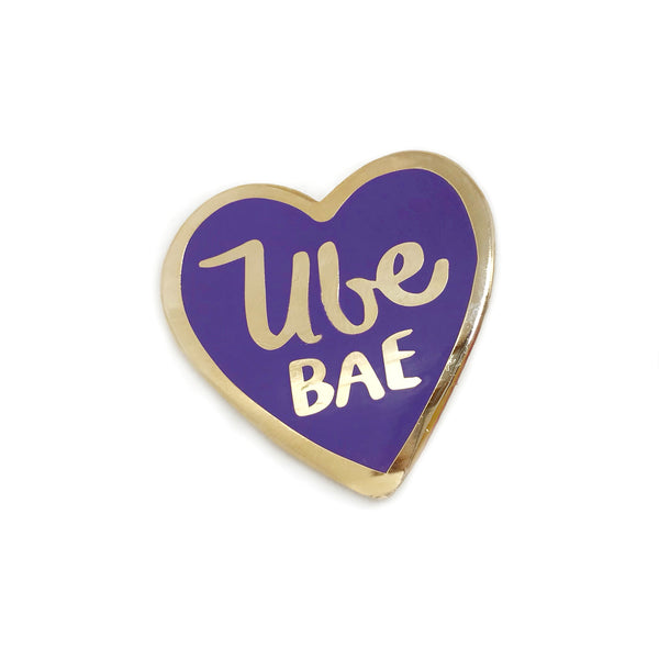 Ube Bae Rose Gold Enamel Pin