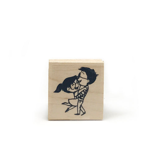 Spinning Love Rubber Stamp