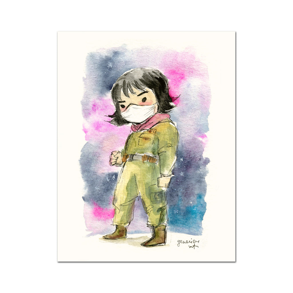 Covid-19 Mini Art Print - Rose Tico