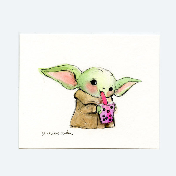 Boba Yoda Original Art