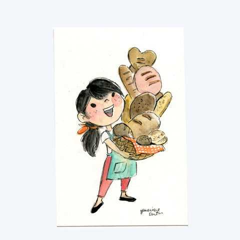 Bread Baker Original Art