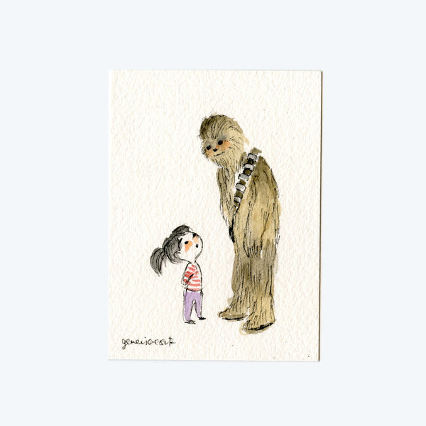 Hello Chewie Original Art