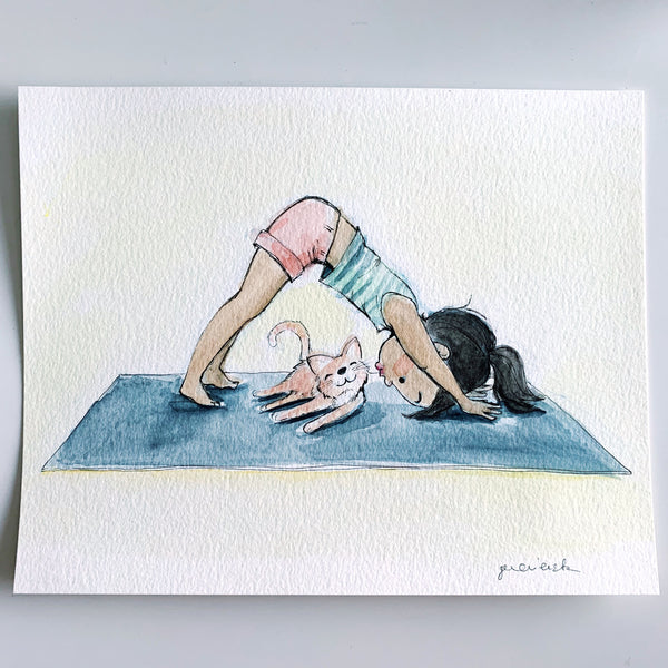 Downward Dog Original Art