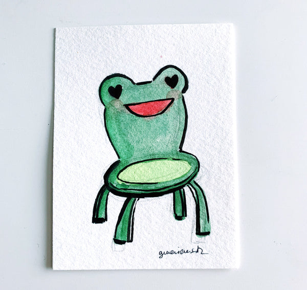 Froggy Chair Original Art